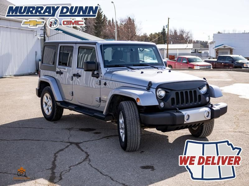 Black[Black] 2015 Jeep Wrangler Unlimited sahara Right Front Corner Photo in Nipawin SK