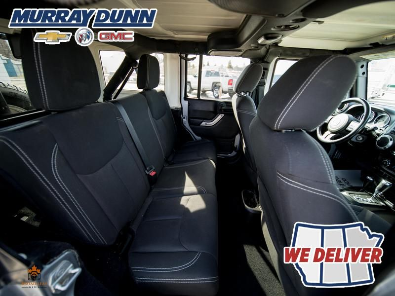 Black[Black] 2015 Jeep Wrangler Unlimited sahara Right Rear Seat Photo in Nipawin SK
