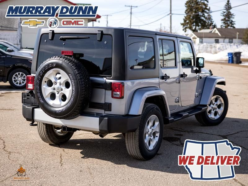 Black[Black] 2015 Jeep Wrangler Unlimited sahara Right  Rear Corner Photo in Nipawin SK