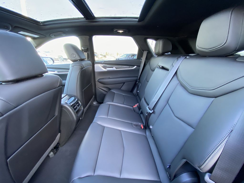 White[Crystal White Tricoat] 2021 Cadillac XT5 Sport Left Side Rear Seat  Photo in Calgary AB
