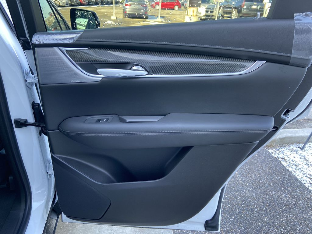 White[Crystal White Tricoat] 2021 Cadillac XT5 Sport Right Rear Interior Door Panel Photo in Calgary AB