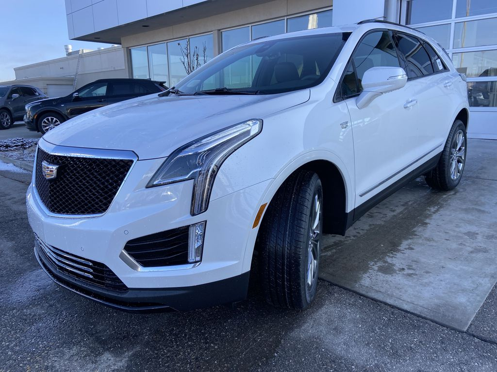 White[Crystal White Tricoat] 2021 Cadillac XT5 Sport Left Front Head Light / Bumper and Grill in Calgary AB