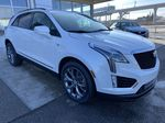 White[Crystal White Tricoat] 2021 Cadillac XT5 Sport Right Front Corner Photo in Calgary AB