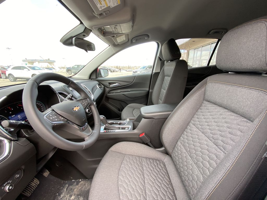 Red[Cajun Red Tintcoat] 2021 Chevrolet Equinox LT Left Front Interior Photo in Calgary AB