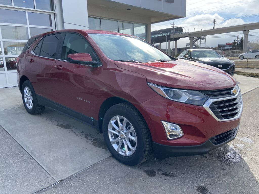 Red[Cajun Red Tintcoat] 2021 Chevrolet Equinox LT Right Front Corner Photo in Calgary AB