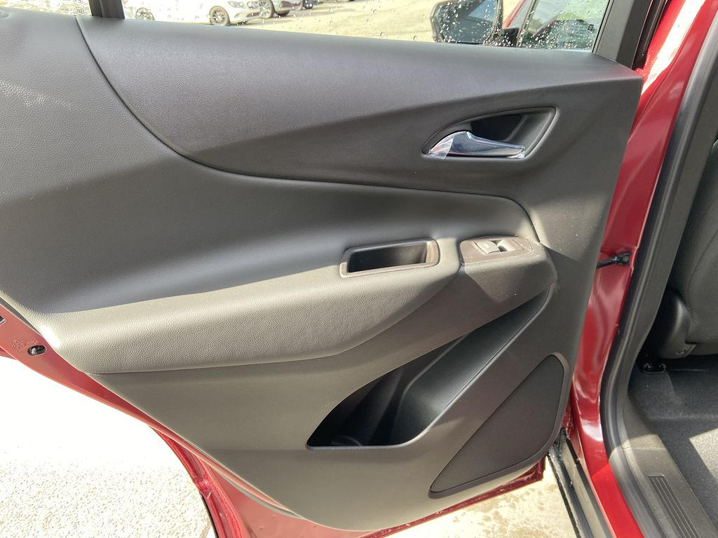 Red[Cajun Red Tintcoat] 2021 Chevrolet Equinox LT Left Rear Interior Door Panel Photo in Calgary AB