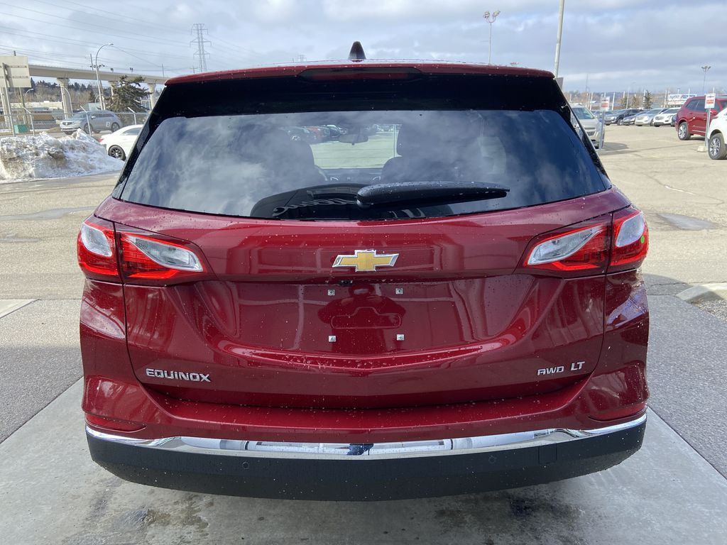 Red[Cajun Red Tintcoat] 2021 Chevrolet Equinox LT Rear of Vehicle Photo in Calgary AB