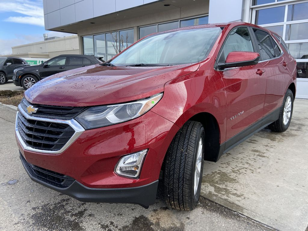 Red[Cajun Red Tintcoat] 2021 Chevrolet Equinox LT Left Front Head Light / Bumper and Grill in Calgary AB