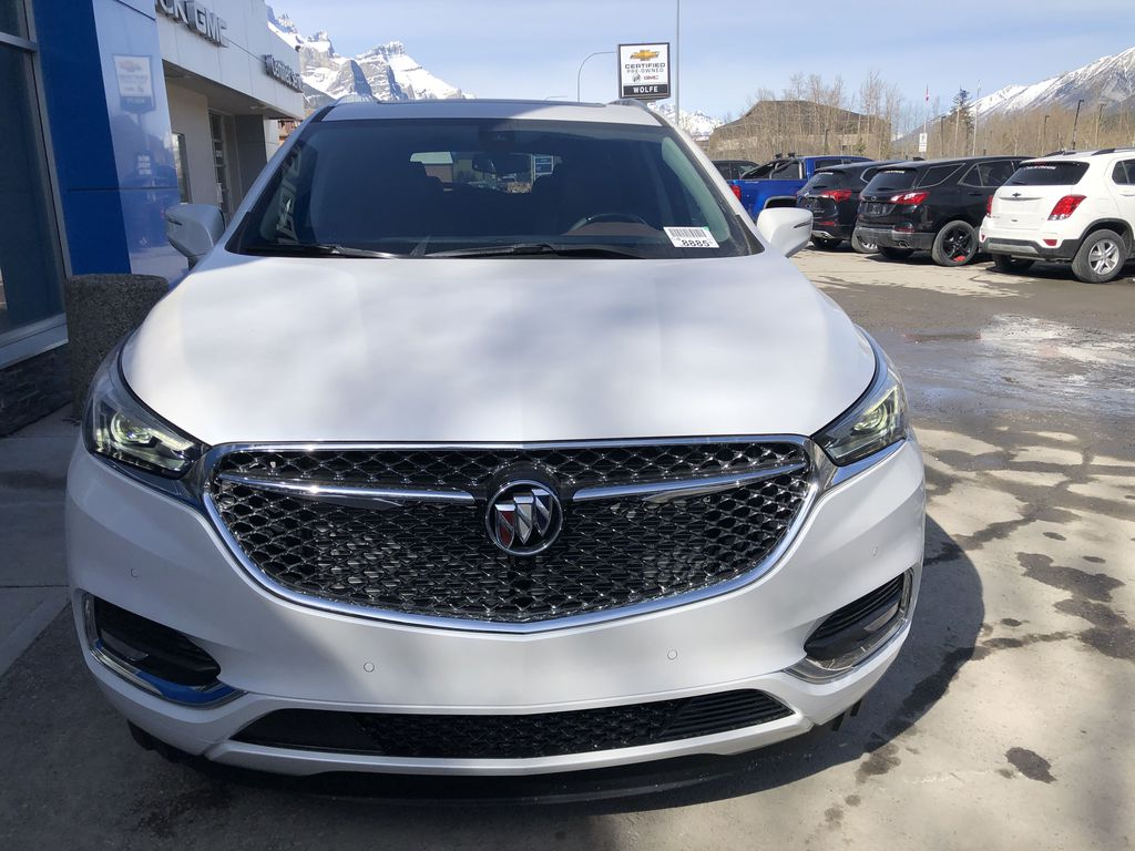 White[White Frost Tricoat] 2021 Buick Enclave Avenir Front Vehicle Photo in Canmore AB
