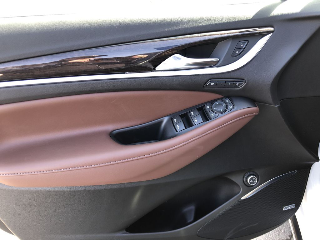 White[White Frost Tricoat] 2021 Buick Enclave Avenir Left Front Interior Door Panel Photo in Canmore AB