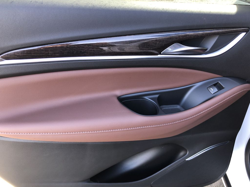 White[White Frost Tricoat] 2021 Buick Enclave Avenir Left Rear Interior Door Panel Photo in Canmore AB