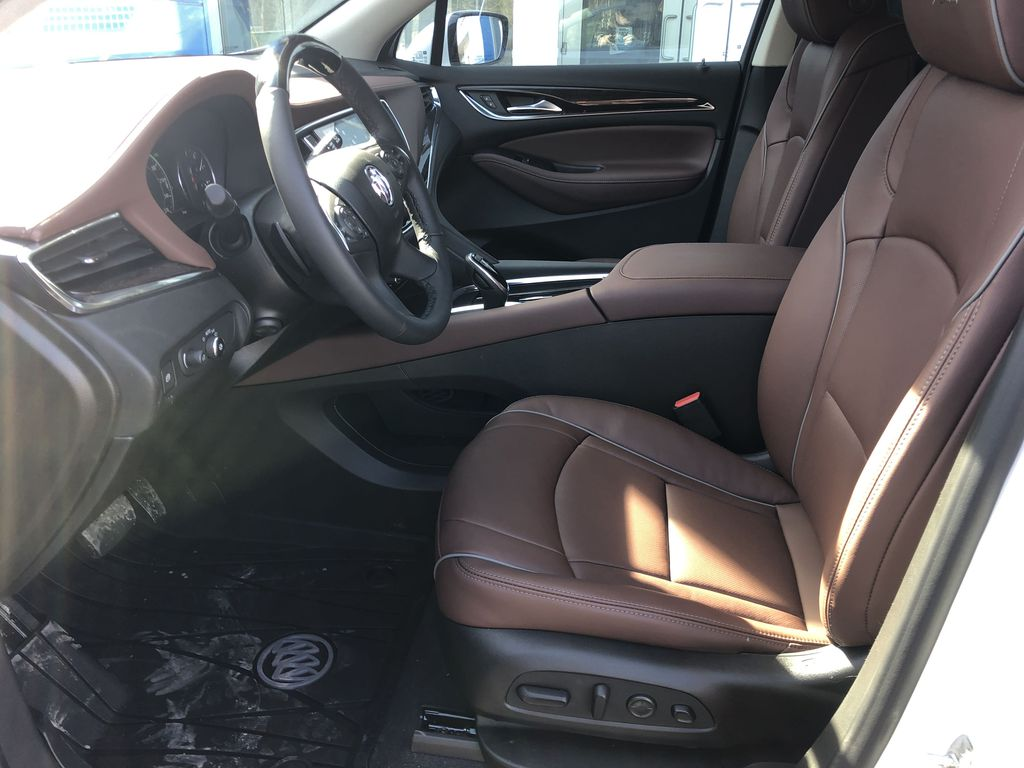 White[White Frost Tricoat] 2021 Buick Enclave Avenir Left Front Interior Photo in Canmore AB