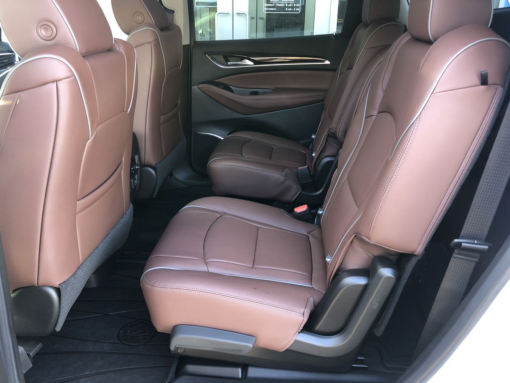 White[White Frost Tricoat] 2021 Buick Enclave Avenir Left Side Rear Seat  Photo in Canmore AB