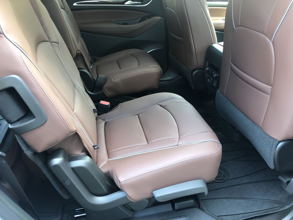 White[White Frost Tricoat] 2021 Buick Enclave Avenir Right Side Rear Seat  Photo in Canmore AB
