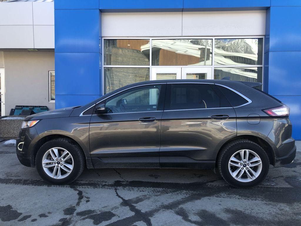 Gray[Magnetic Metallic] 2015 Ford Edge SEL Left Side Photo in Canmore AB