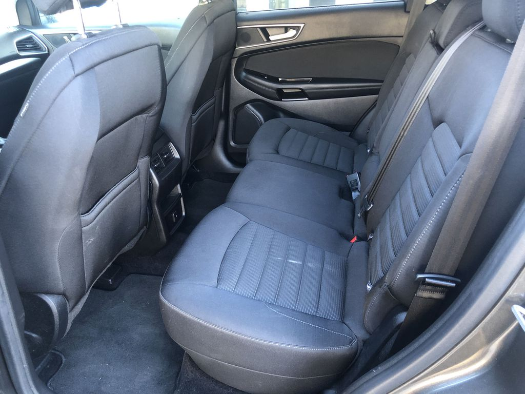 Gray[Magnetic Metallic] 2015 Ford Edge SEL Left Side Rear Seat  Photo in Canmore AB