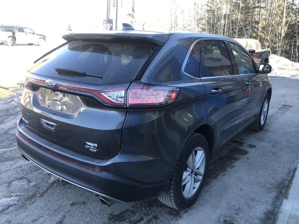 Gray[Magnetic Metallic] 2015 Ford Edge SEL Right Rear Corner Photo in Canmore AB