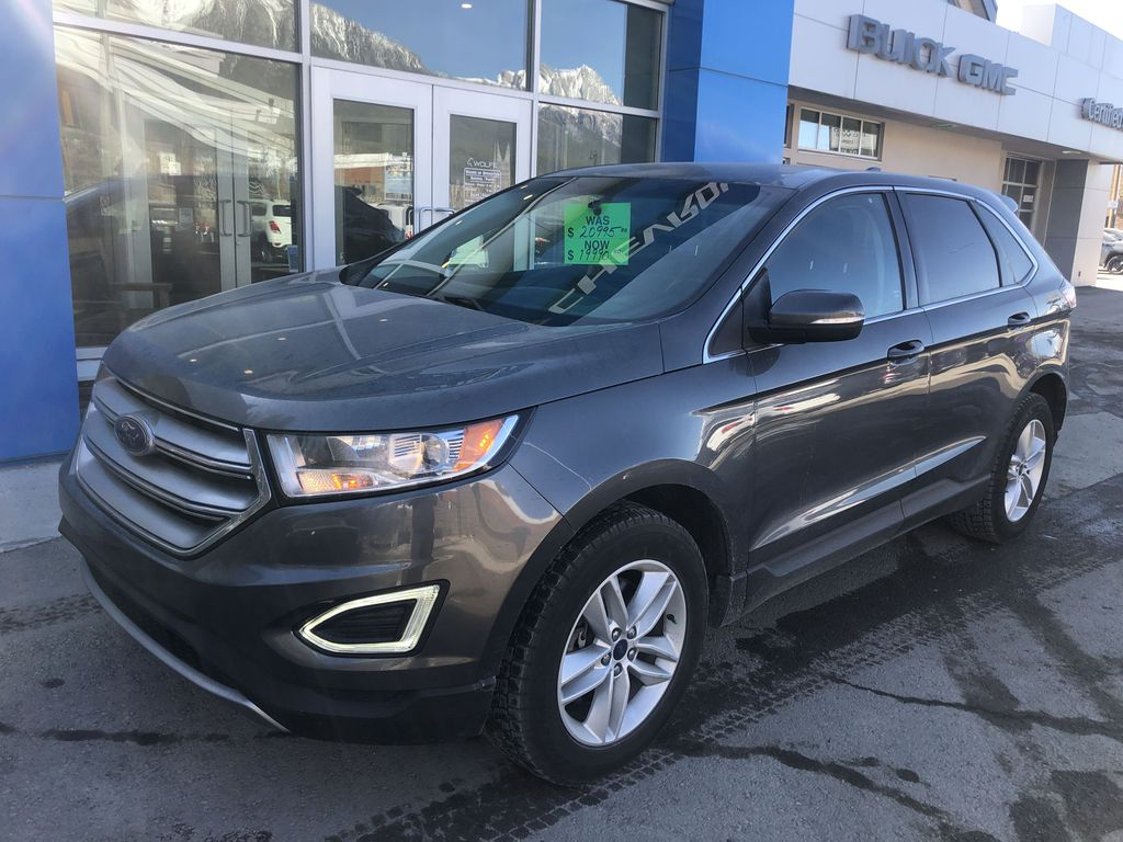 Gray[Magnetic Metallic] 2015 Ford Edge SEL Left Front Corner Photo in Canmore AB
