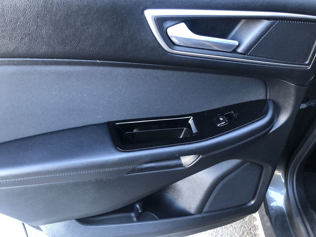 Gray[Magnetic Metallic] 2015 Ford Edge SEL Left Rear Interior Door Panel Photo in Canmore AB