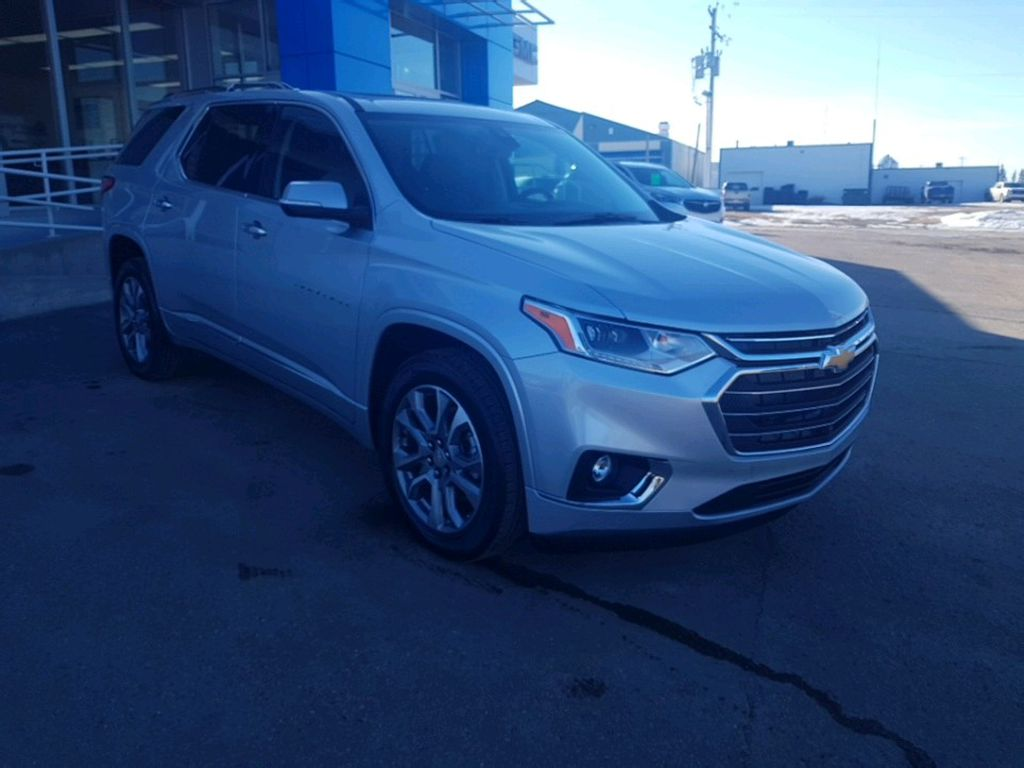 Silver 2021 Chevrolet Traverse Left Front Rim and Tire Photo in Barrhead AB