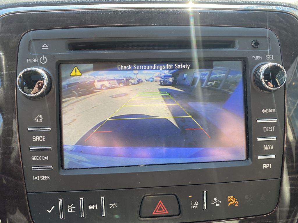 White[White Frost Tricoat] 2017 Buick Enclave Backup Camera Closeup Photo in Canmore AB