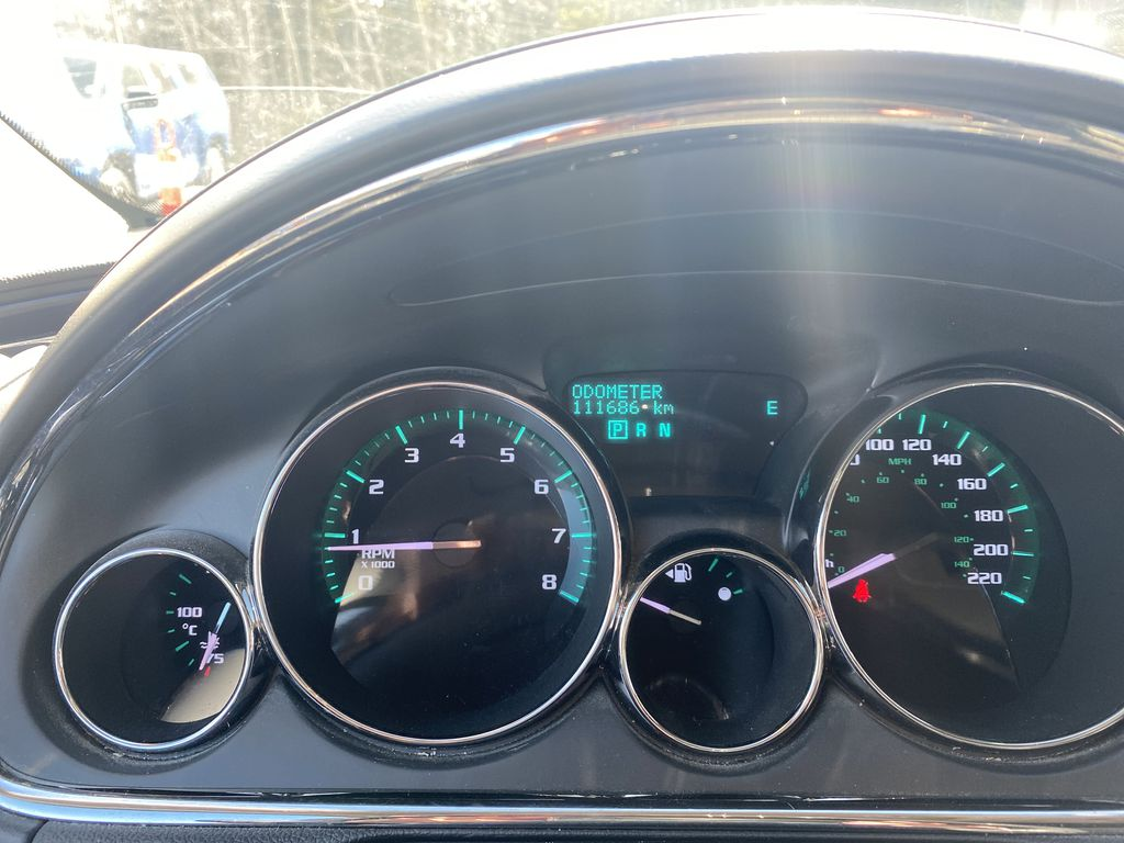 White[White Frost Tricoat] 2017 Buick Enclave Odometer Photo in Canmore AB