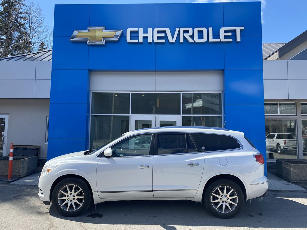 White[White Frost Tricoat] 2017 Buick Enclave Left Side Photo in Canmore AB