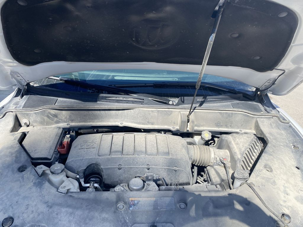 White[White Frost Tricoat] 2017 Buick Enclave Engine Compartment Photo in Canmore AB