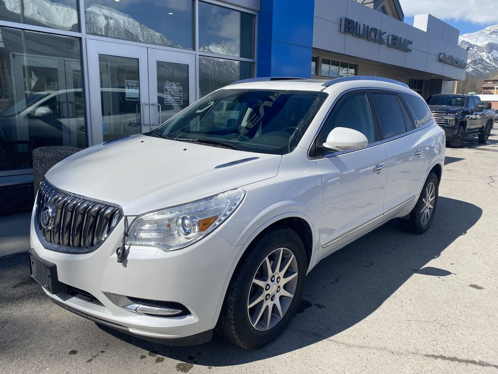 White[White Frost Tricoat] 2017 Buick Enclave Left Front Corner Photo in Canmore AB