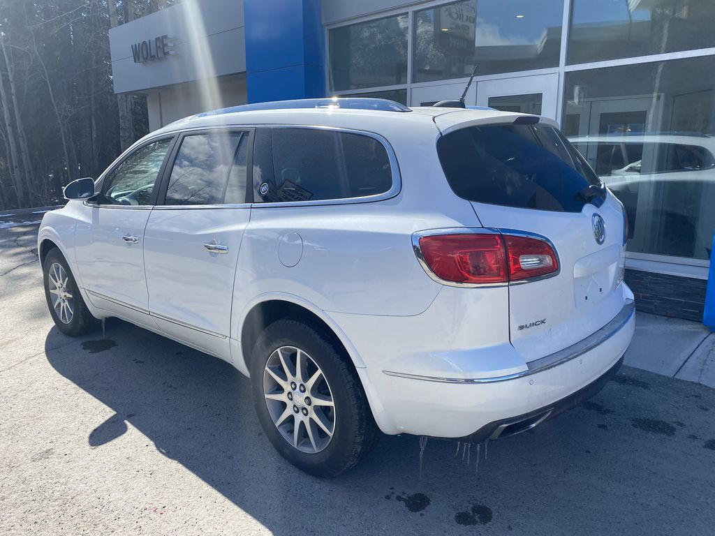 White[White Frost Tricoat] 2017 Buick Enclave Left Rear Corner Photo in Canmore AB
