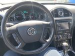 White[White Frost Tricoat] 2017 Buick Enclave Steering Wheel and Dash Photo in Canmore AB