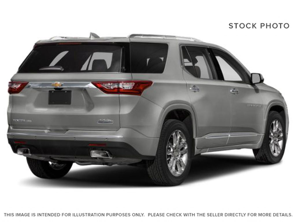 Silver[Silver Ice Metallic] 2018 Chevrolet Traverse Right Rear Corner Photo in Canmore AB
