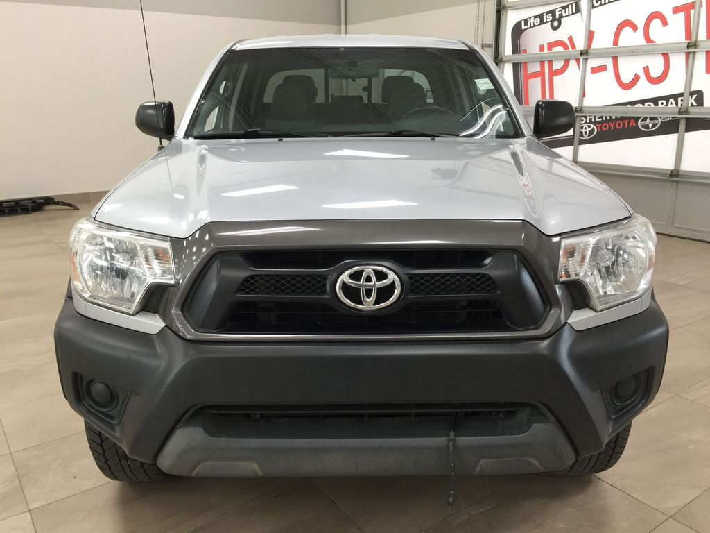 Silver[Silver Streak Mica] 2012 Toyota Tacoma SR5 Double Cab 4x4 Front Vehicle Photo in Sherwood Park AB