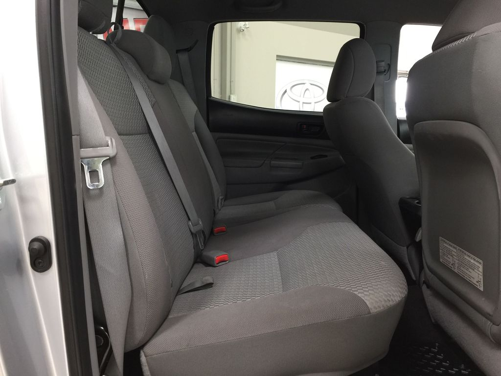Silver[Silver Streak Mica] 2012 Toyota Tacoma SR5 Double Cab 4x4 Right Side Rear Seat  Photo in Sherwood Park AB