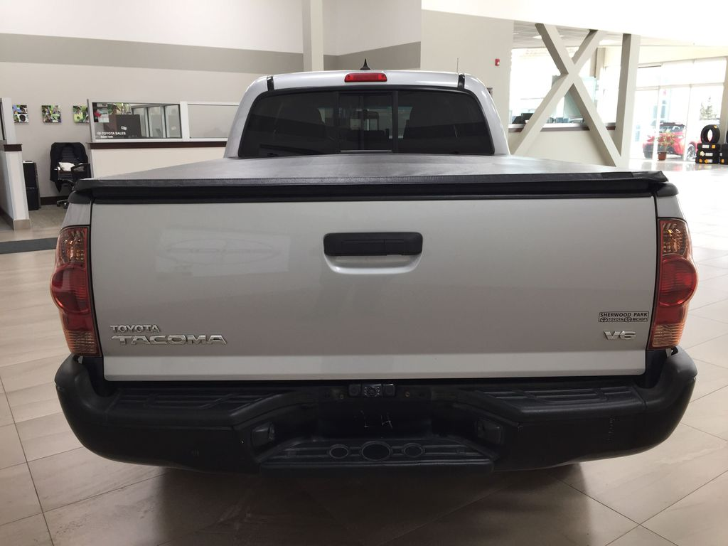 Silver[Silver Streak Mica] 2012 Toyota Tacoma SR5 Double Cab 4x4 Rear of Vehicle Photo in Sherwood Park AB