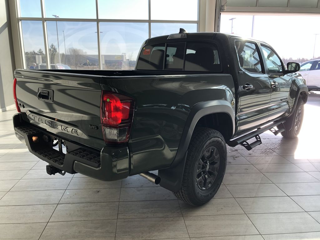 Army Green 2021 Toyota Tacoma 4WD Double Cab Trail (Short Box) Right Rear Corner Photo in Edmonton AB