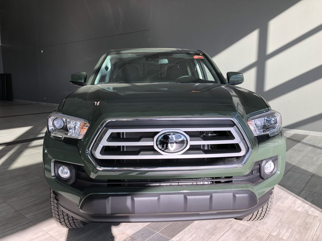 Army Green 2021 Toyota Tacoma 4WD Double Cab Trail (Short Box) Odometer Photo in Edmonton AB