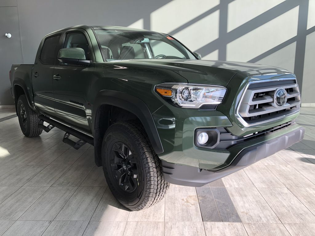Army Green 2021 Toyota Tacoma 4WD Double Cab Trail (Short Box) Left Front Interior Photo in Edmonton AB