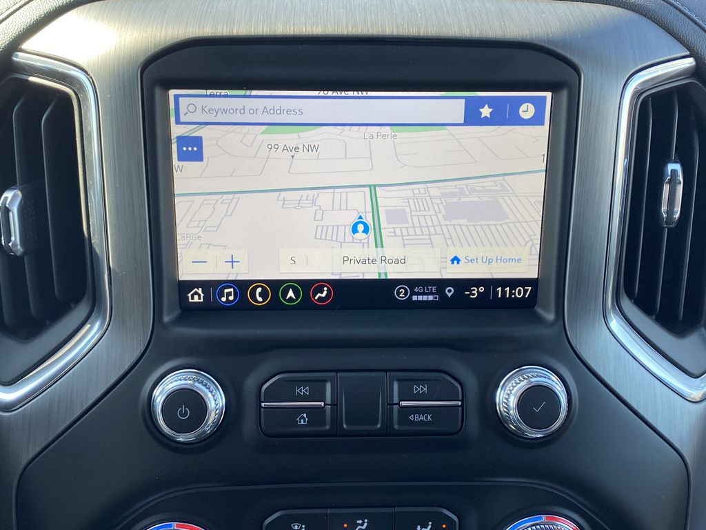 Green[Hunter Metallic] 2021 GMC Sierra 1500 Navigation Screen Closeup Photo in Edmonton AB