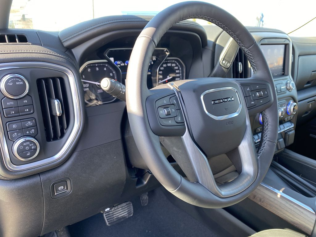 Green[Hunter Metallic] 2021 GMC Sierra 1500 Steering Wheel and Dash Photo in Edmonton AB