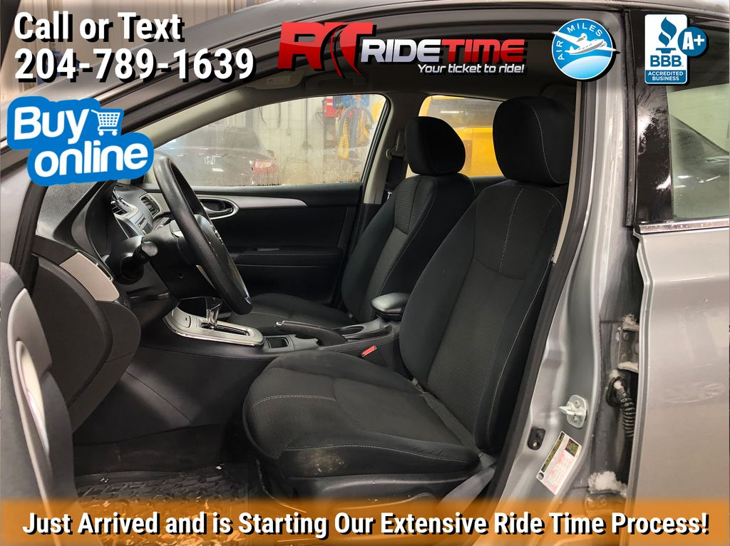 Silver[Brilliant Silver Metallic] 2014 Nissan Sentra S - Automatic, SUPER LOW KMs, CLEAN CarFax Left Front Interior Photo in Winnipeg MB