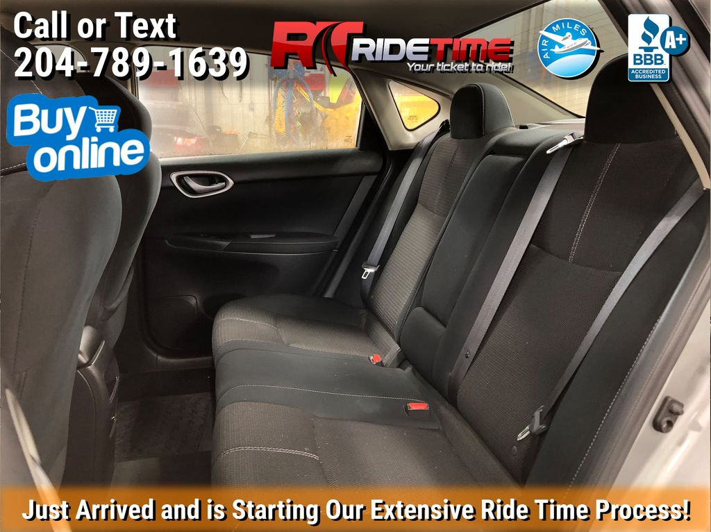 Silver[Brilliant Silver Metallic] 2014 Nissan Sentra S - Automatic, SUPER LOW KMs, CLEAN CarFax Left Side Rear Seat  Photo in Winnipeg MB