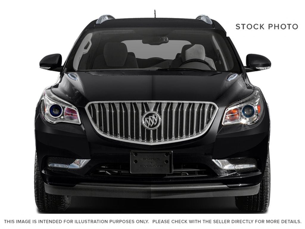 White[Summit White] 2017 Buick Enclave Front Vehicle Photo in Calgary AB