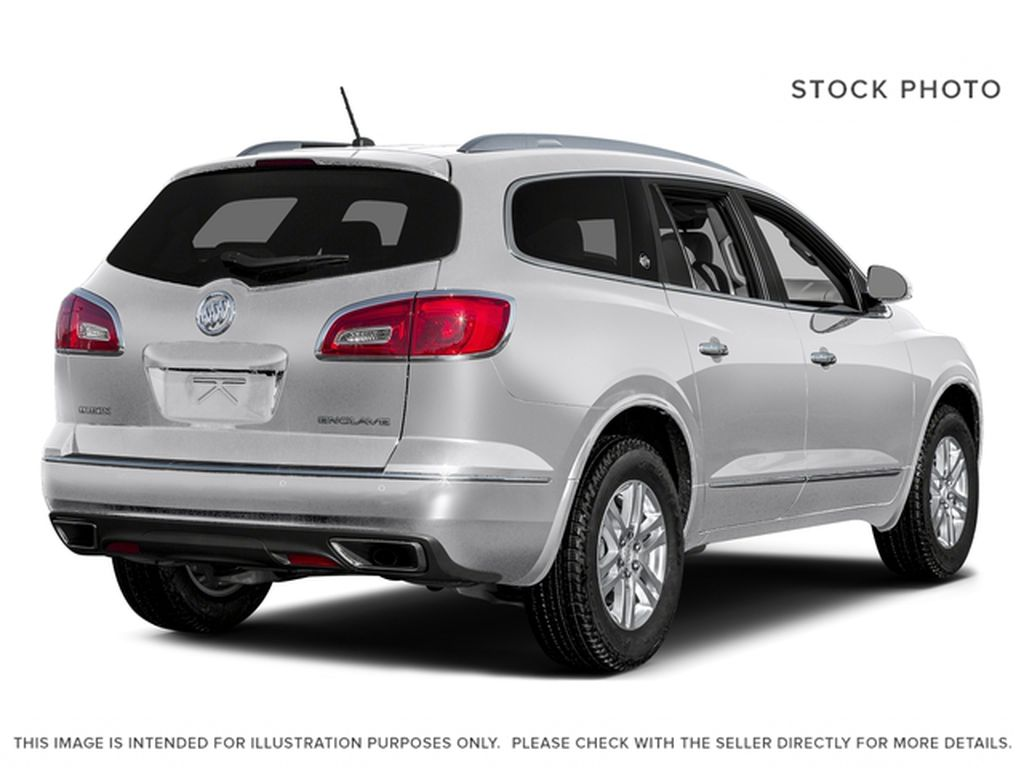 White[Summit White] 2017 Buick Enclave Right Rear Corner Photo in Calgary AB
