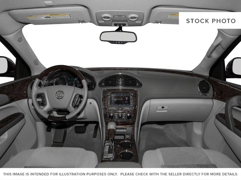 White[Summit White] 2017 Buick Enclave Central Dash Options Photo in Calgary AB