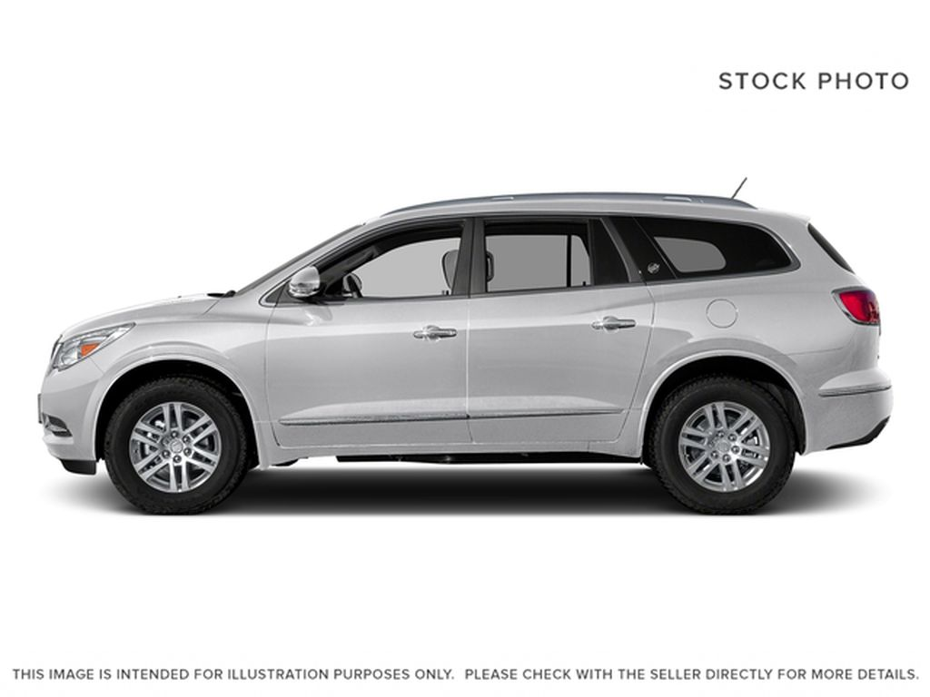 White[Summit White] 2017 Buick Enclave Left Side Photo in Calgary AB