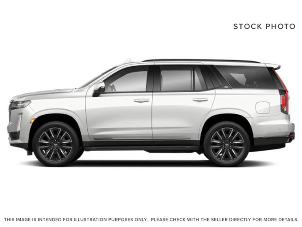 White[Crystal White Tricoat] 2021 Cadillac Escalade Left Side Photo in Calgary AB