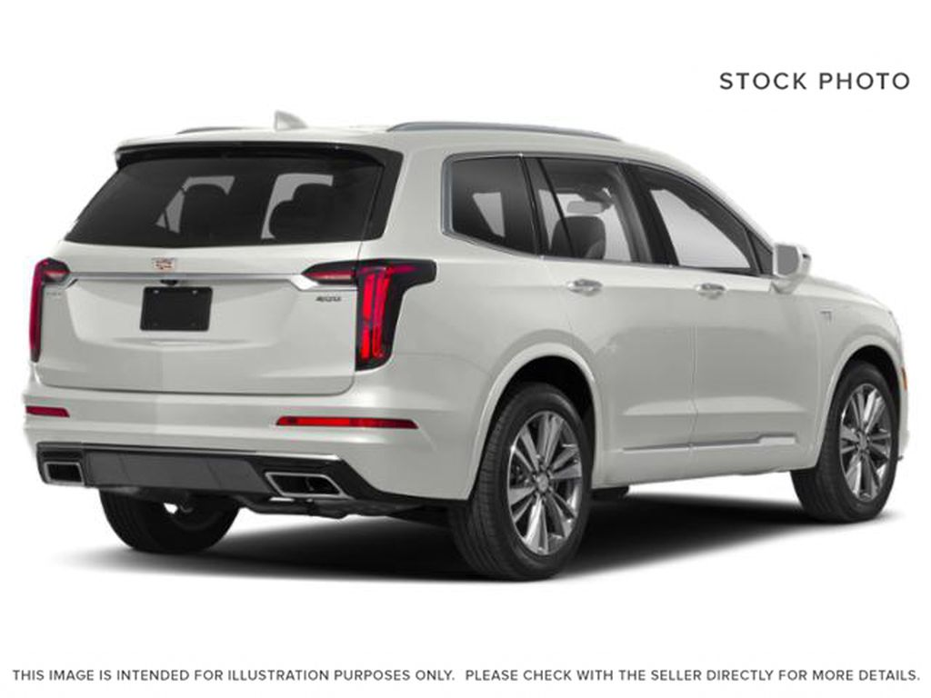White[Crystal White Tricoat] 2021 Cadillac XT6 Right Rear Corner Photo in Edmonton AB