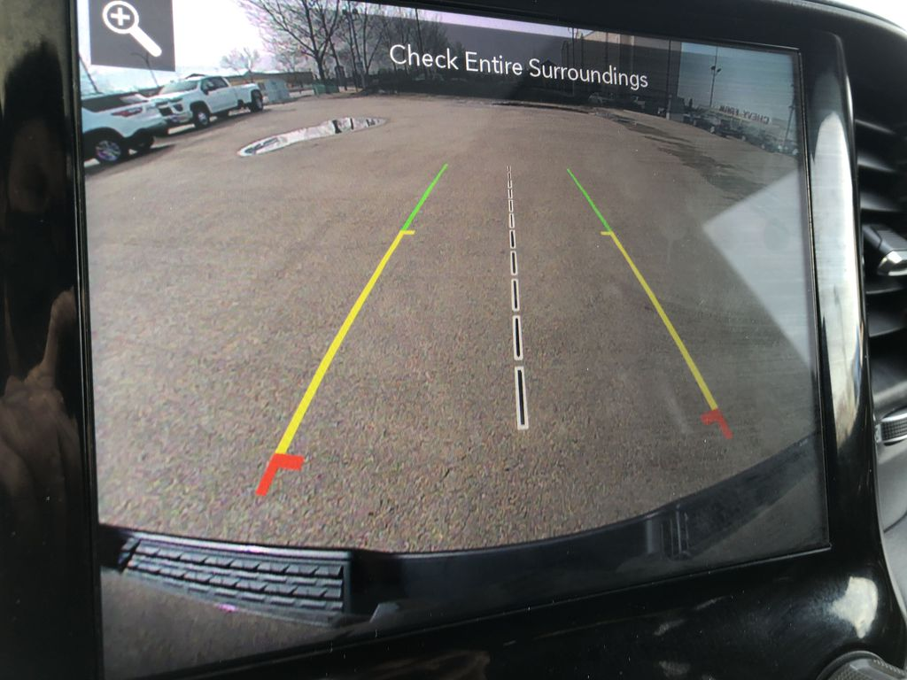 Gray[Granite Crystal Metallic] 2020 Ram 1500 Backup Camera Closeup Photo in Edmonton AB