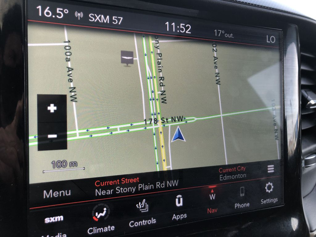 Gray[Granite Crystal Metallic] 2020 Ram 1500 Navigation Screen Closeup Photo in Edmonton AB